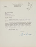Autographs:Statesmen, Earl Warren Typed Letters (2) Signed Addressed to NormanCousins.... (Total: 2 Items)