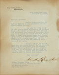 Autographs:U.S. Presidents, Franklin D. Roosevelt Typed Letter Signed....