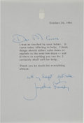 Autographs:U.S. Presidents, Jacqueline Kennedy Typed Letter Signed....