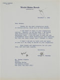 Autographs:Statesmen, Robert F. Kennedy Typed Letter Signed...