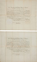 Autographs:U.S. Presidents, Grover Cleveland Signed Consul Appointments (2) for Andrew F.Fay....