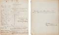 Autographs:Military Figures, [Civil War]. Dr. Francis J. D'Avignon Medical Manuscript....