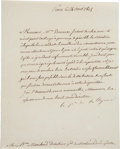 Autographs, Charles Maurice de Talleyrand Letter Signed....