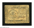 Colonial Notes:Continental Congress Issues, Continental Currency February 17, 1776 $5 Fine. The hardest fold onthis note is its center vertical fold....