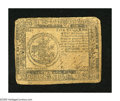 Colonial Notes:Continental Congress Issues, Continental Currency February 26, 1777 $5 Fine. Rounded corners,edge wear, and a couple of small holes inhabit this note....
