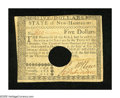 Colonial Notes:New Hampshire, New Hampshire April 29, 1780 $5 Choice About New+++. A wonderfulexample of this difficult yet available cancelled New Hamps...