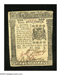 Colonial Notes:Pennsylvania, Pennsylvania April 25, 1776 40s Choice About New++. A very faintcenter fold is found on this otherwise lovely note that has...