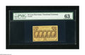 Fractional Currency:First Issue, Fr. 1281 25c First Issue PMG Choice Uncirculated 63. A lovely note which is fresh and bright with excellent color and margin...