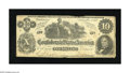 Confederate Notes:1862 Issues, T46 $10 1862. This uncancelled Cr. 343 has adhesive residue on allfour corners on the back. Fine+....