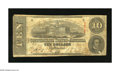Confederate Notes:1863 Issues, T59 $10 1863. This Cr. 437/3 note has some pinholes and is slightlystained. Very Good-Fine....