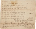 Autographs:Statesmen, Alexander Hamilton Document Signed and Autograph EndorsementSigned. ...