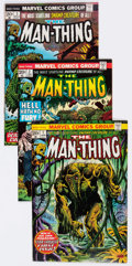 Bronze Age (1970-1979):Horror, Man-Thing Group of 33 (Marvel, 1974-81) Condition: Average VF....(Total: 33 Comic Books)