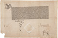 Autographs:Non-American, [Charles V, Holy Roman Emperor]. Printed Document....