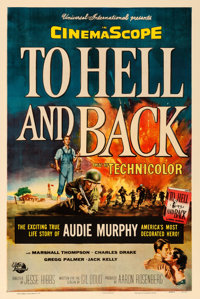 """To Hell and Back (Universal International, 1955). One Sheet (27"""" X 41"""") Reynold Brown Artwork"""