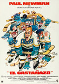"Movie Posters:Sports, Slap Shot (Cinema International, 1977). Spanish One Sheet (27.5"" X39"").. ..."