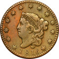 Large Cents, 1816 1C N-8, R.1 -- Improperly Cleaned -- NGC Details. VF. ...