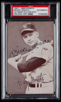 Autographs:Sports Cards, Signed 1947-1966 Exhibits Mickey Mantle PSA Authentic....