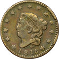 Large Cents, 1816 1C N-8, R.1 -- Tooled -- NGC Details. Fine. ...