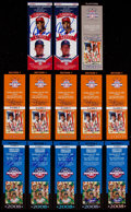 Autographs:Others, 2007-2012 Signed Baseball Hall of Fame Tickets Lot of 13....