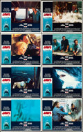 "Movie Posters:Horror, Jaws (Universal, 1975). Lobby Card Set of 8 (11"" X 14"").. ...(Total: 8 Items)"