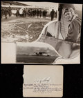 Autographs:Others, 1920's Charles Lindbergh Signed Cut Signature With Album Page....