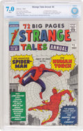 Silver Age (1956-1969):Superhero, Strange Tales Annual #2 (Marvel, 1963) CBCS FN/VF 7.0 White pages....