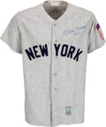 Baseball Collectibles:Uniforms, Early 1990's Mickey Mantle Signed New York Yankees Jersey. ...