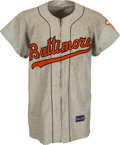 Autographs:Baseballs, 1957 Baltimore Orioles Game Worn Flannel Uniform....