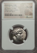 Ancients:Greek, Ancients: PHOENICIA. Tyre. Ca. 126/5 BC-AD 67/8. AR shekel (14.08gm). NGC Choice VF....