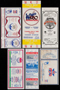 Baseball Collectibles:Tickets, 1980-85 Baseball All-Star Full Ticket/Stub Collection (6)....