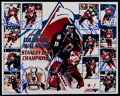 Hockey Collectibles:Photos, 1995-96 Colorado Avalanche Multi-Signed Photograph (8Signatures)....