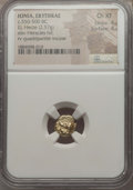 Ancients:Greek, Ancients: IONIA. Erythrae. Ca. 550-500 BC. EL sixth stater or hecte(2.57 gm). NGC Choice XF 4/5 - 4/5....