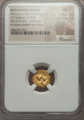 Ancients:Byzantine, Ancients: Heraclius (AD 610-641) and Heraclius Constantine (AD613-641). AV solidus (4.46 gm). NGC MS 3/5 - 5/5. ...
