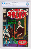 Silver Age (1956-1969):Horror, Tower of Shadows #1 (Marvel, 1969) CBCS VF+ 8.5 White pages....