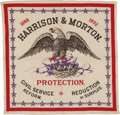 Political:Textile Display (pre-1896), Benjamin Harrison: Outstanding Graphic Bandana....