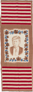 Political:Textile Display (1896-present), John F. Kennedy: Linen Wall Hanging....