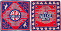 Political:Textile Display (1896-present), Franklin D. Roosevelt and Wendell Willkie: Pair of Silk Scarves....