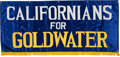Political:Textile Display (1896-present), Barry Goldwater: Deluxe Satin Banner....