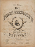 Political:Small Paper (pre-1896), Jefferson Davis: Pictorial Presidential Sheet Music....