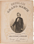 Political:Small Paper (pre-1896), Stephen A. Douglas: Graphic Sheet Music Honoring Lincoln's 1860Opponent....