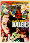 "Movie Posters:Science Fiction, Dr. Who and the Daleks (Rosa Films, 1966). Spanish One Sheet (27.5""X 39"") Macario ""Mac"" Gomez Artwork.. ..."