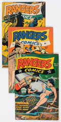 Golden Age (1938-1955):War, Rangers Comics #33, 37, and 38 Group (Fiction House, 1947)Condition: Average VG/FN.... (Total: 3 Comic Books)