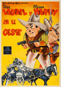 """Movie Posters:Comedy, Way Out West (MGM, 1940). Spanish One Sheet (27.5"""" X 39.25"""").. ..."""