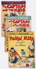 Golden Age (1938-1955):Miscellaneous, Comics On Parade Group of 12 (United Features Syndicate, 1941-50) Condition: Average GD+.... (Total: 12 Comic Books)