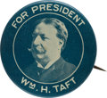 Political:Pinback Buttons (1896-present), William Howard Taft: Scarce Ehrman Picture Pin....