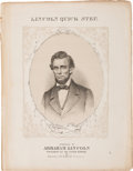 Political:Small Paper (pre-1896), Abraham Lincoln: Pictorial Sheet Music....