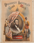 Political:Small Paper (pre-1896), Abraham Lincoln: Pictorial Presidential Sheet Music....