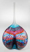 Glass, Stephen Powell (American, b. 1951). Zulu Cleavage Jones, 1993. Blown murrine glass. 38 inches high (96.5 cm). Signed nea...