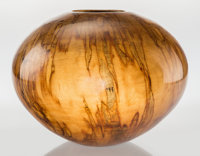 Philip Moulthrop (American, b. 1947) Bowl, circa 1990 Turned and varnish red leopard maple 9 inch