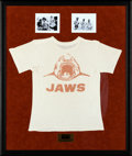 """Movie Posters:Horror, Jaws (Universal, 1974). Framed Crew T-Shirt (32.5"""" X 38.5"""").. ..."""
